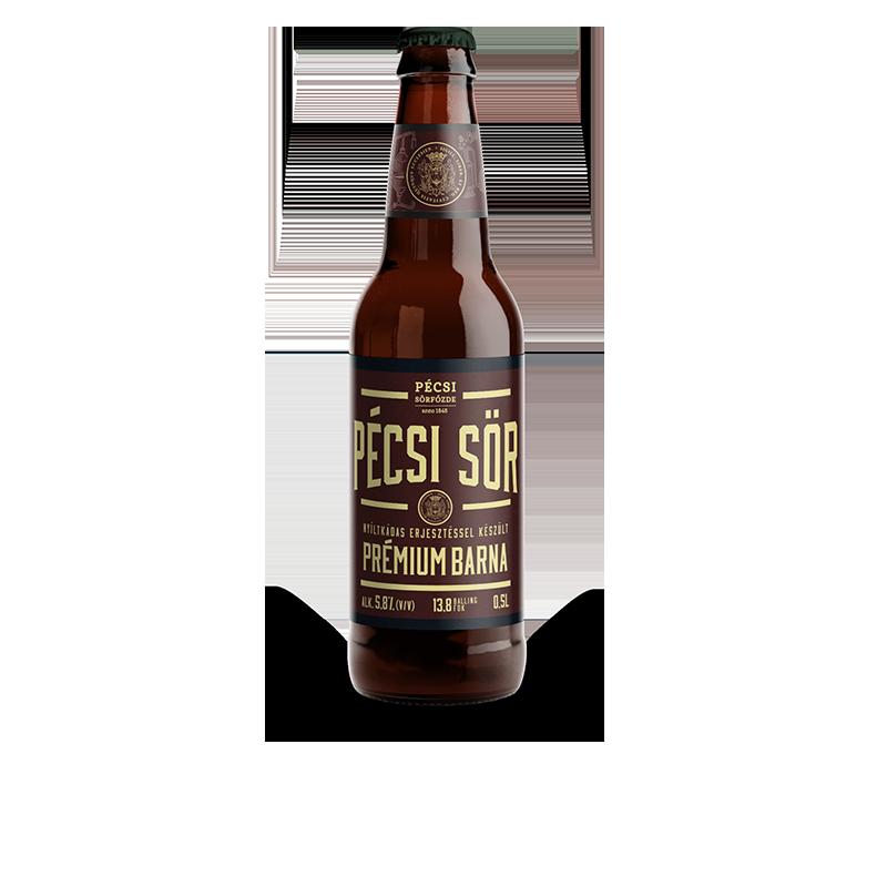 Pécsi Prémium Barna sör üveges