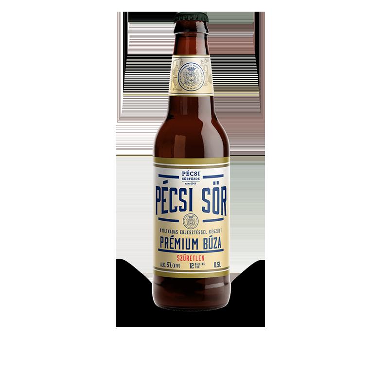 Pécsi Prémium Búza üveges sör