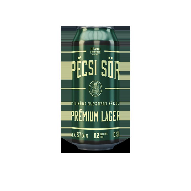 Pécsi Prémium Lager sör dobozos