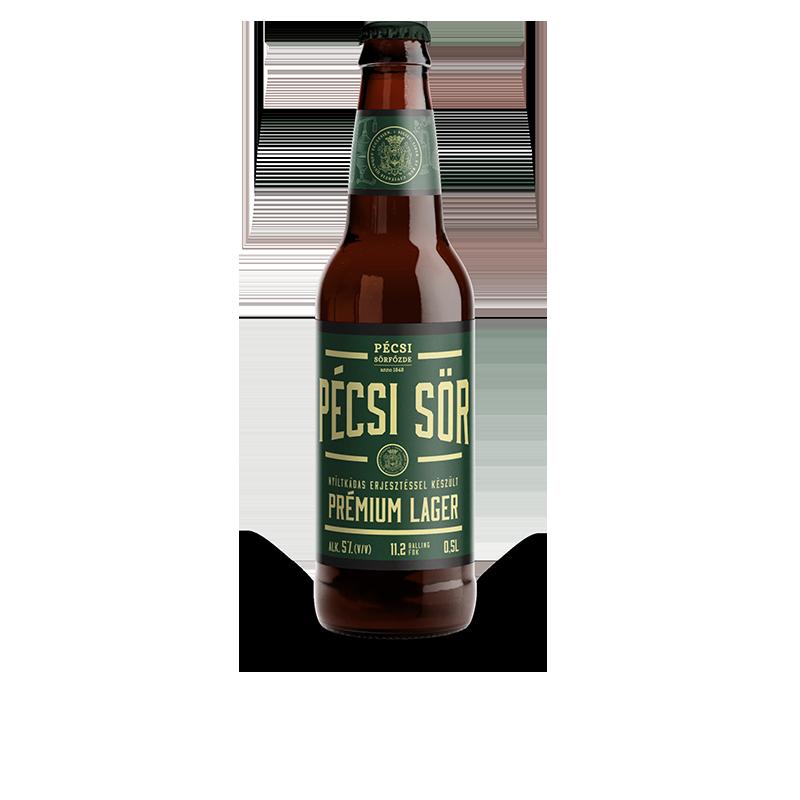 Pécsi Prémium Lager sör üveges
